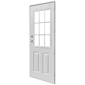 """9 Lite MH Door 34"""" x 76"""" RH"""