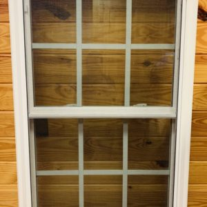 24 in. x 38 in. Double Hung Replacement Window w/grids