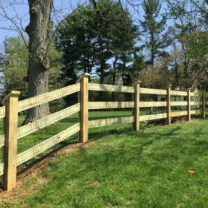 3-Rail Horse Fence